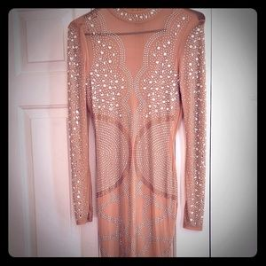 Nude Bedazzled Dress